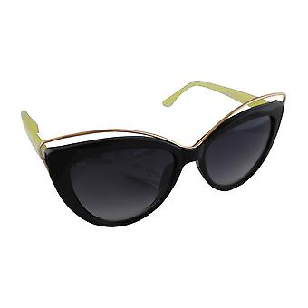 Sunglasses Ladies Cat Eye - Black/Geel1820_7