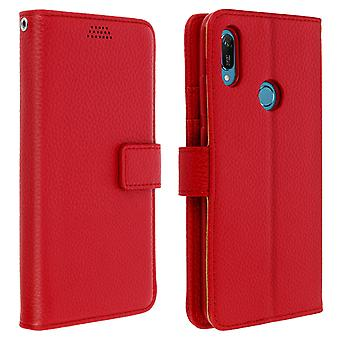 Flip portefeuille case, couverture mince Huawei Y6 2019, shell en silicone - Rouge