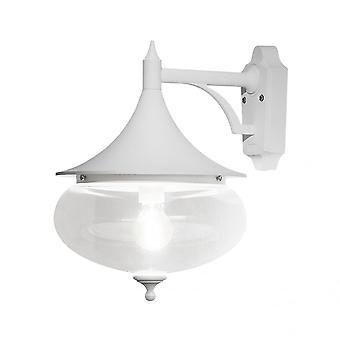Konstsmide Libra stor Globe Matt hvit nedover Wall Lantern