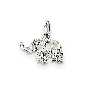 925 Sterling Silver Solid Polished Elephant Charm - 1.9 Grams