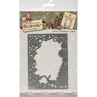 Find It Trading Yvonne Creations Die-Scene Frame, Celebrating Christmas