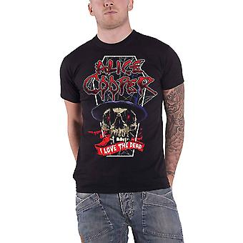 Alice Cooper T Shirt Love The Dead December 2017 Ex Tour new Official Mens Black