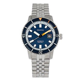 Heritor Automatic Edgard Bracelet Diver-apos;s Watch w/Date - Marine