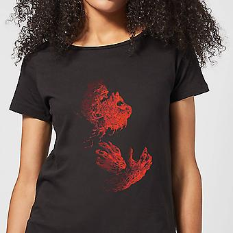 Universal Monsters The Wolfman Illustrated Women's Camiseta - Negro