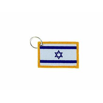 Cle Cles Key Brode Patch Ecusson Badge Flag Israel Israelien