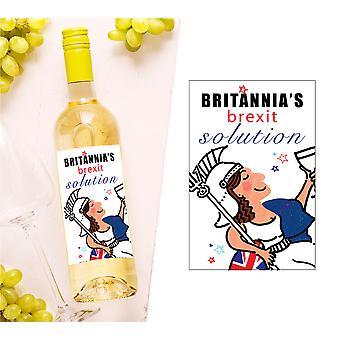 Brexit Wine Bottle Label