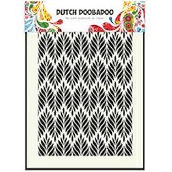 Dutch Doobadoo A5 Mask Stencil - Floral Leaves 715123