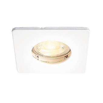 Saxby Lighting Speculo Fire Rated 1 Light Bathroom Recessed Downlight Matt White, Glass IP65 80244