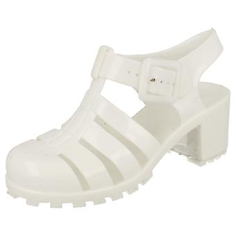 Girls Spot On Heeled Jelly Shoes