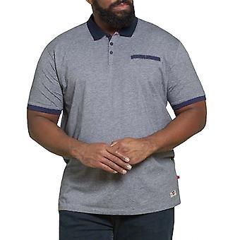 Duke D555 hombres grande alto de rayas finas punto camiseta polo de manga corta - gris