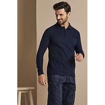 UNEEK Uneek Long Sleeved Polo Shirt, Navy