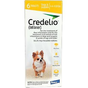 Credelio Yellow Extra Small Dogs 4.4-6 lbs (1.3-2.5 kg) 6 Pack