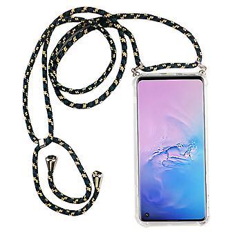 Catena di telefoni per Samsung Galaxy S10 - Custodia collana smartphone con banda - Cord con custodia per appendere in mimetica