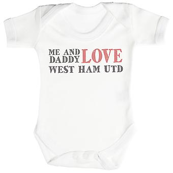 Me & papa texte amour West Ham United Body bébé / Babygrow