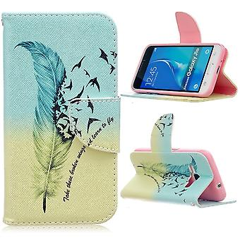 Galaxy Case J1 (2016) Feather And Birds On Blue And Green Background - Crazy Kase