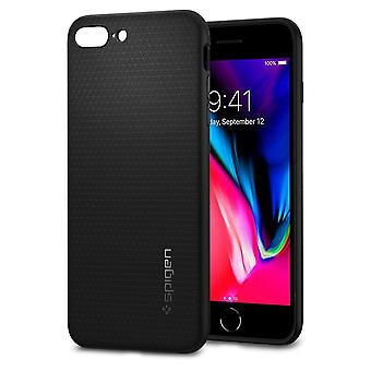 Hull Voor iPhone 8 Plus / 7 Plus Liquid Air Black Mat