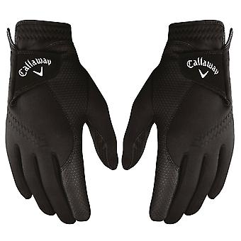 Callaway Golf Womens Thermal Grip Fleece Lined Leather Palm Gloves - Pair