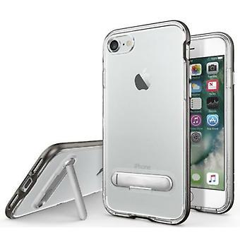 Apple iPhone SE 2020 asia kickstand - 8 - 7 läpinäkyvä musta