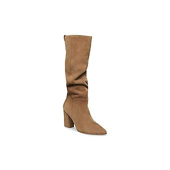 Steve Madden Womens raddle Leather Pointed Toe Knee High Fashion Boots