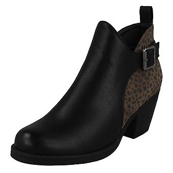 Ladies Spot On Ankle Boots F51011