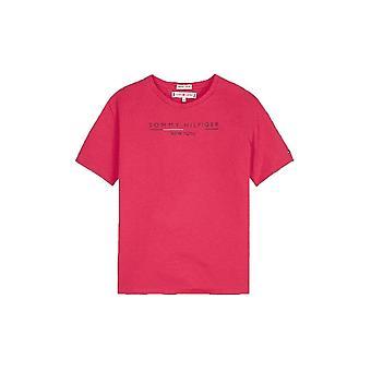 Tommy Hilfiger Girls Tommy Hilfiger Girl ' s Pink Nowy Jork logo T-shirt