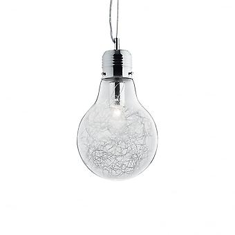 Ideal Lux Luce Max Single Small Light Bulb Pendant