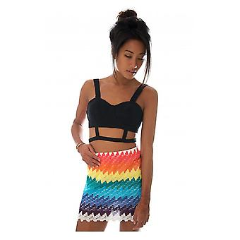 Yaeger Aztec Mini Skirt