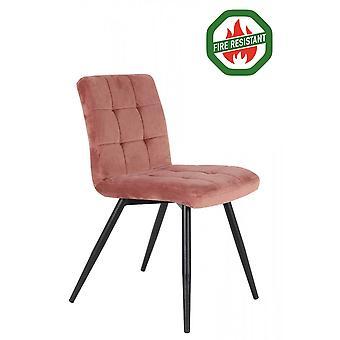 Light & Living Dining Chair 57x49x84cm Olive Fr Velvet Old Pink