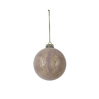 Lys & Levende Christmas Bauble Runde 8cm Ball Glass Gammel Rosa