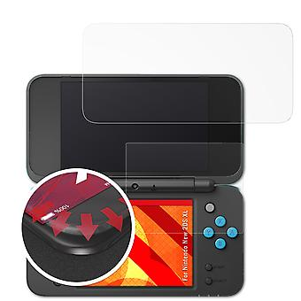 atFoliX Glass Protector compatible with Nintendo New 2DS XL Glass Protective Film 9H Hybrid-Glass