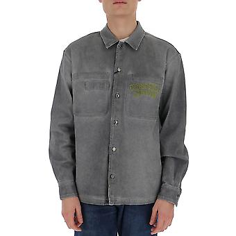Moschino 02092018a1498 Men's Grey Cotton Shirt