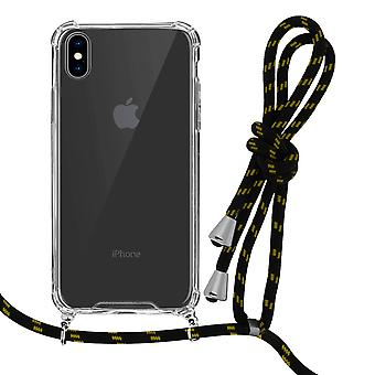Braided Nylon Lanyard Phone Case for Apple iPhone X / XS - Forcell, Yellow