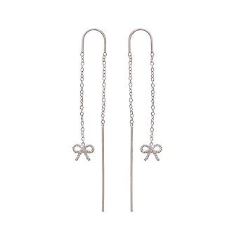 Olivia Burton Watches Obj16vbe14 Vintage Bow Chain Drop Earrings Sterling Silver