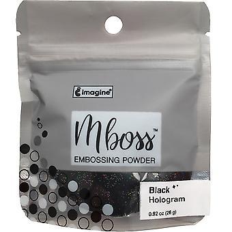 Imagine Mboss Embossing Powder - Black Hologram