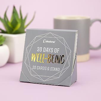 30 días de bienestar - Soporte de pantalla con 30 tarjetas de mensaje positivas reutilizables