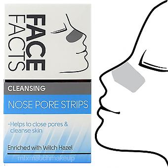 6 X Face Facts Deep Cleansing Nose Pore Strips ~ Cleansing