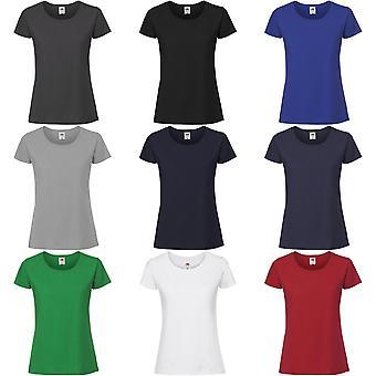Fruto del telar de las mujeres/damas Fit camiseta Premium Ringspun