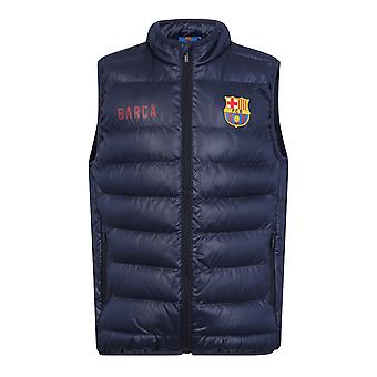 FC Barcelona Official Football Gift Boys Wyściełane Body Warmer Jacket Gilet