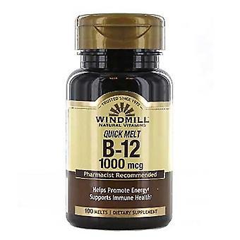 Windmill vitamin b-12, 1000 mcg, quick melts, tablets, 100 ea