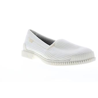 Camper Pix  Mens White Canvas Casual Slip On Loafers Shoes