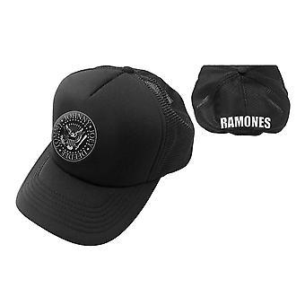 Ramones Baseball Cap Presidential Seal Band Logo new Official Black Trucker