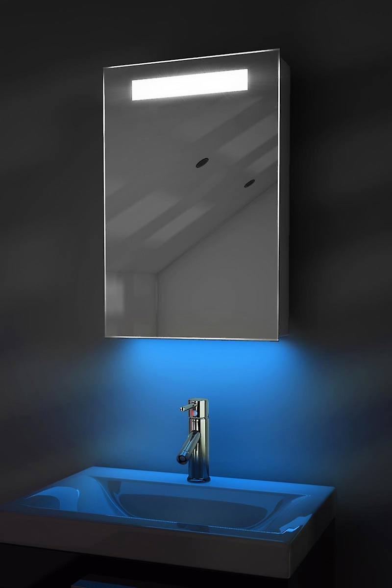 Meuble-lavabo rasoir & K262Rgb capteur de désembuage auto changeant de couleur