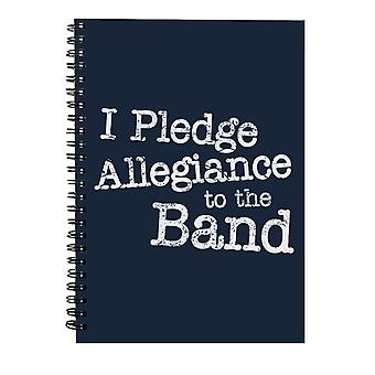 School Of Rock I Pledge Allegiance To The Band Spiral Notebook