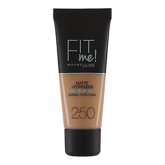 Maybelline fit Me mat + Poreless Foundation-250 sol beige