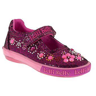 Lelli Kelly Rachele LK3110 Dark Pink Glitter Canvas Shoes