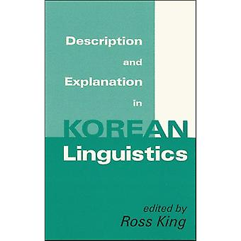 Description and Explanation in Korean Linguistics by King - 978188544