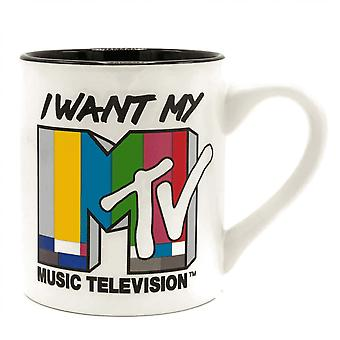 MTV I Want My MTV 14 Ounce Ceramic Mug