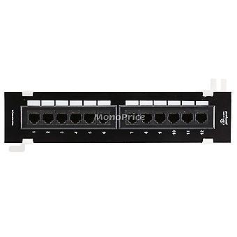 12-Port Vertical Cat6 Mini Patch Panel 110 Type (568A/B Kompatibel) von Monoprice