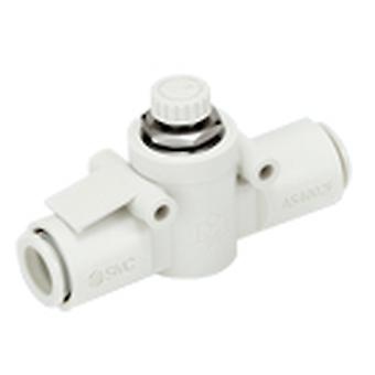 SMC As Series Flow Controller, 6Mm Tube Inlet Port X 6Mm Tube Outlet Port