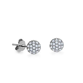 Earrings W 18K Gold and Diamonds - White Gold